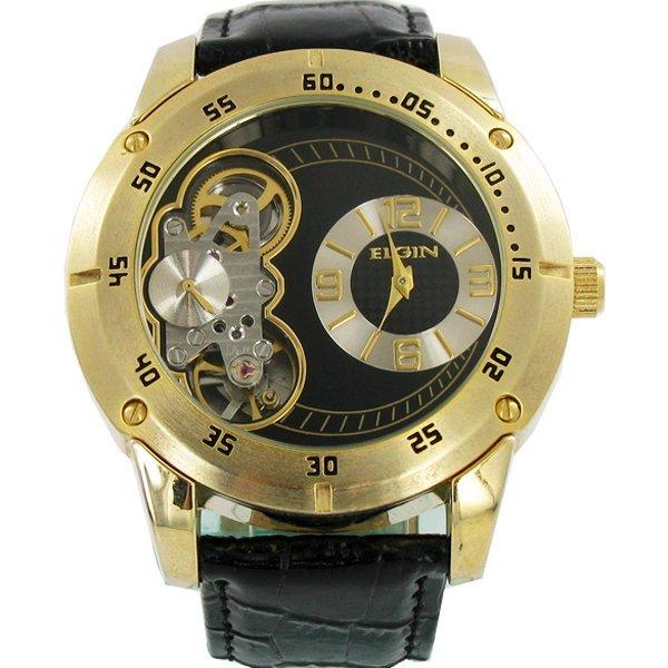Collectible Elgin NEW BIG Skeleton Watch