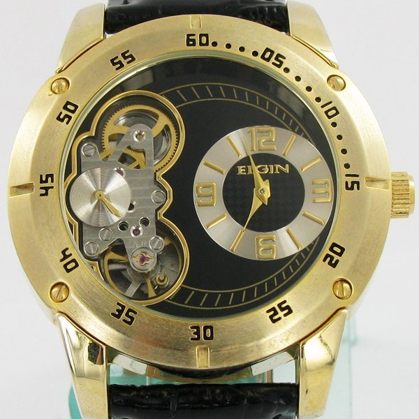 Collectible Elgin NEW BIG Skeleton Watch - 2