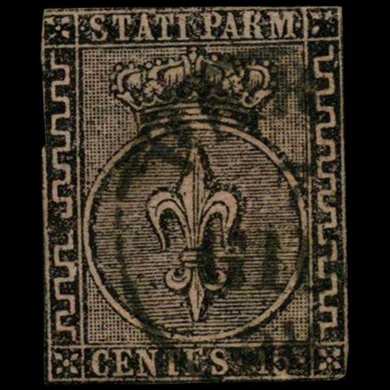 1852 Parma 15c Stamp