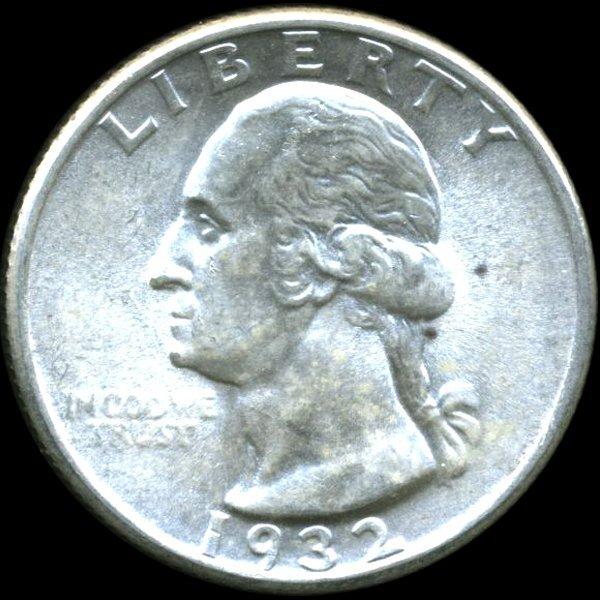 1932 Washington 25c MS64