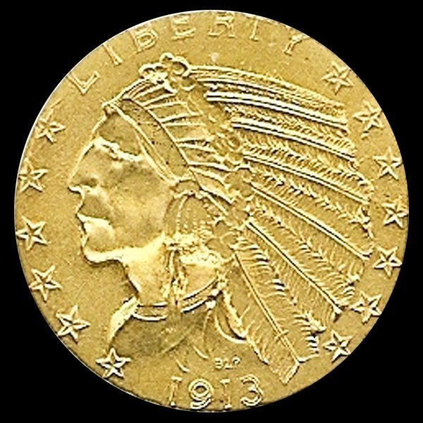 1913S Us $5 Gold Indian UNC MS62/63