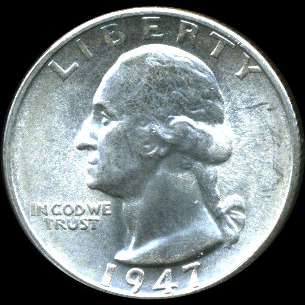 1947S Washington 25c MS66