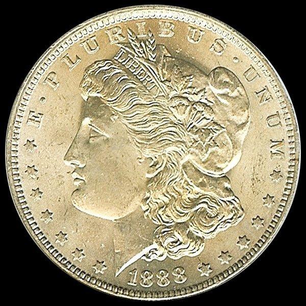 1888O Us Morgan Silver $1 Gem MS65