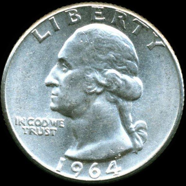 1964 Washington 25c MS65
