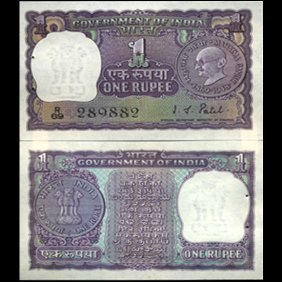 1969 India 1 Rupee Ghandi Anniv. Crisp Unc