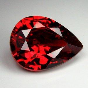 .8ct Blazingly Gorgeous Red Pear Garnet Gem 8x5mm