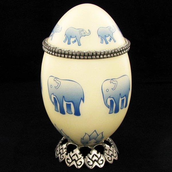 Faberge Style Goose Egg Photo Frame