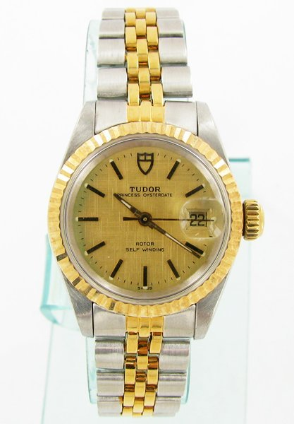 Rolex Tudor Ladies Princess Oysterdate 14k Bezel & Stem
