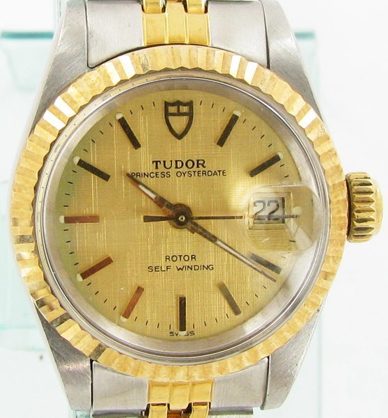 Rolex Tudor Ladies Princess Oysterdate 14k Bezel & Stem - 2