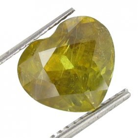 3.57ct Dazzling Natural Yellow Sphene Multi Color