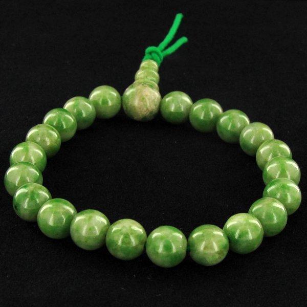 85ct Green Jade Beads Bracelet