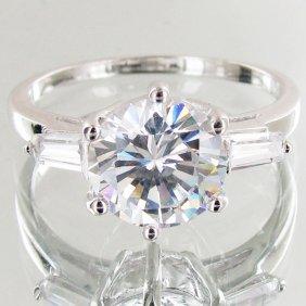 20.45twc Lab Diamond White Gold Vermeil/925 Ring