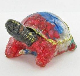 550ct. Star Sapphire/Topaz Turtle/Tortoise Statue