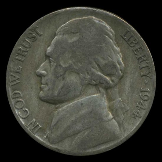 1944P/D/S Jefferson Silver WAR Nickel Set