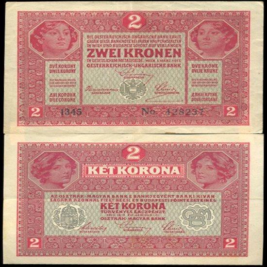 1920 Austria 2 Kronen Hi Grade