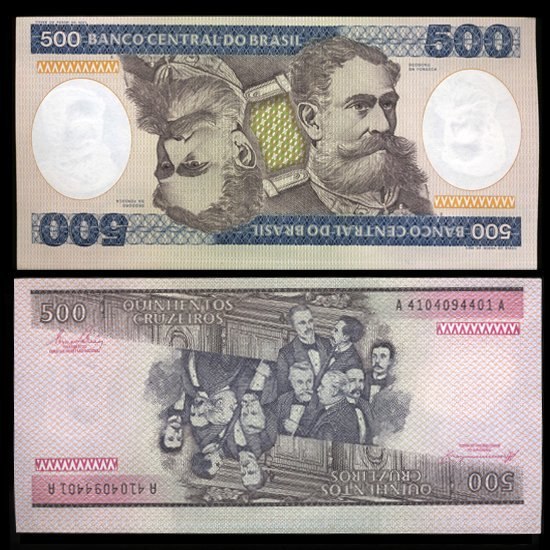 1981 Brazil 500 Crusados Crisp Uncirculated Note