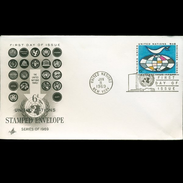 1969 UN First Day Postal Cover