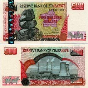 2001 Zimbabwe $10 Note Crisp Unc