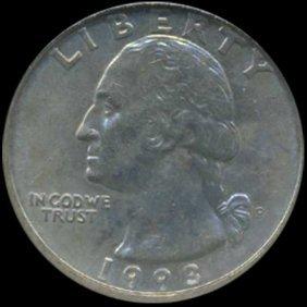1993 Washington 25c Quarter Coin Graded GEM