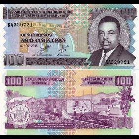 2006 Burundi 100 Franc Note Crisp Unc
