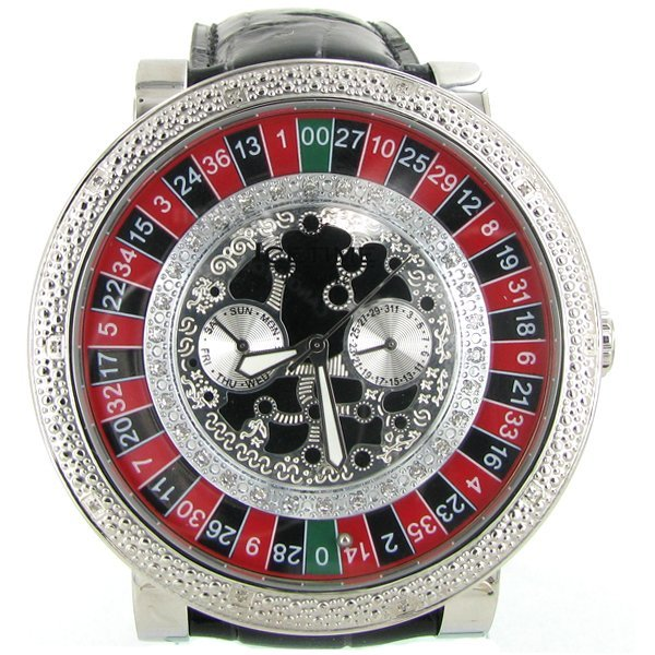 New Ice Time Mens Diamond Bezel Watch White Gold Plated