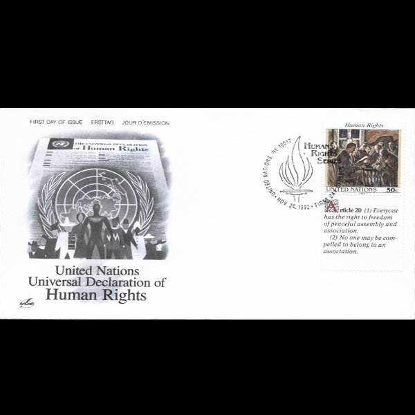1992 UN First Day Postal Cover