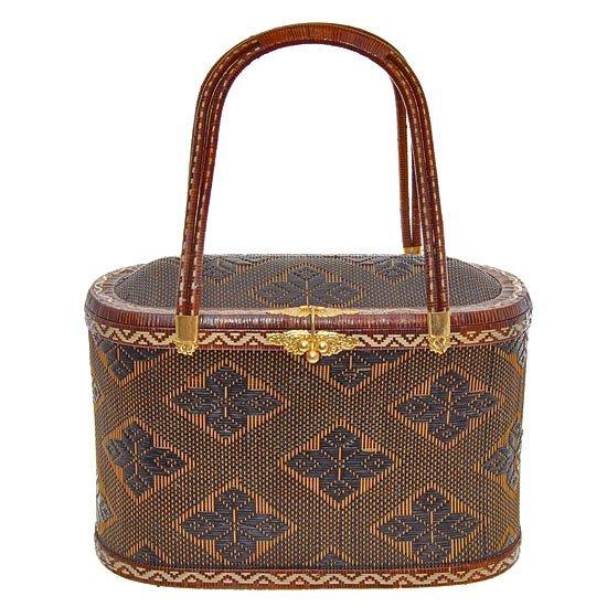 Finely Hand-woven Lipao Gold Plate Handbag