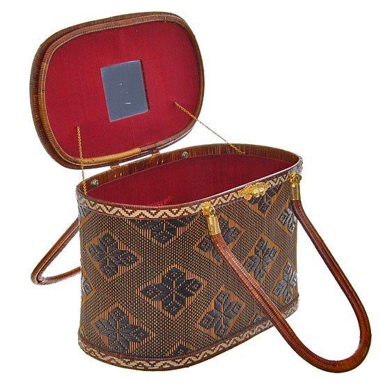 Finely Hand-woven Lipao Gold Plate Handbag - 2