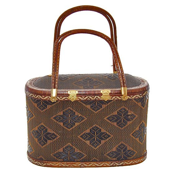 Finely Hand-woven Lipao Gold Plate Handbag - 3