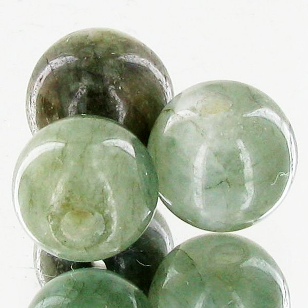 23.98ct Green Jade Beads Parcel