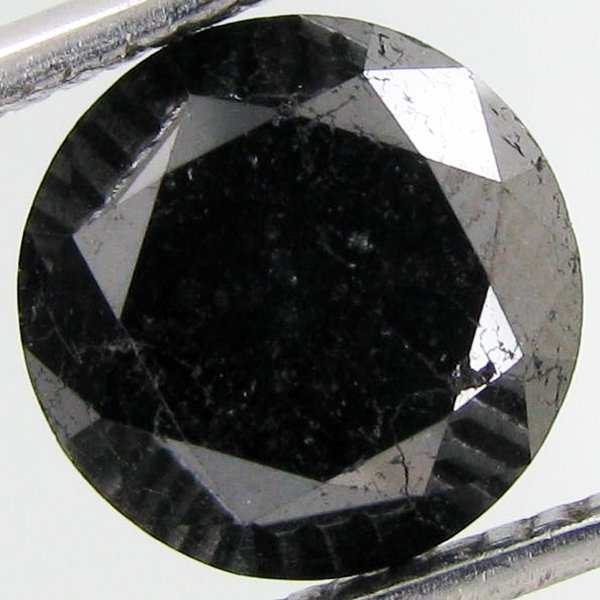 3.10ct Clean Black Diamond Oval