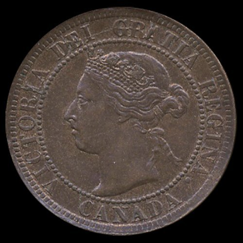 1895 Canada Cent Unc MS65+ Red BN