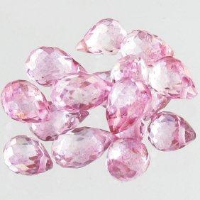 11.75ct Pink Topaz Briolette Parcel