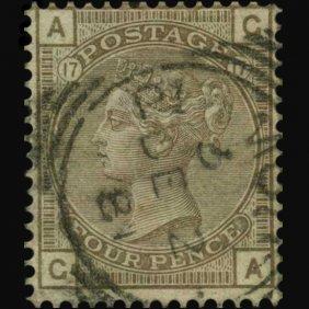 1880 Britain 4p Victoria Stamp