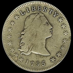 1795 US $1 Flowing Hair Rare Date VF
