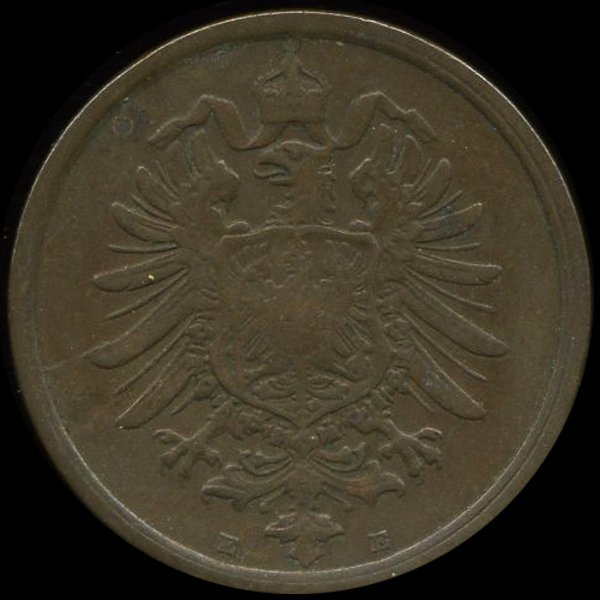 1875E Germany 2pf VF/XF