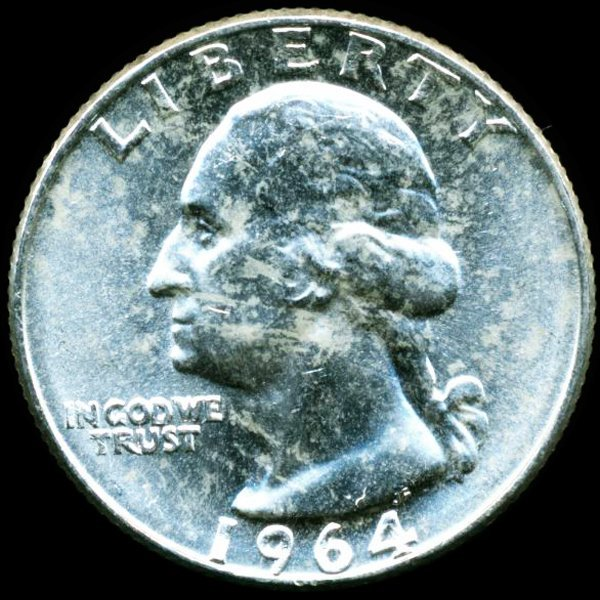 1964D Washington 25c MS65