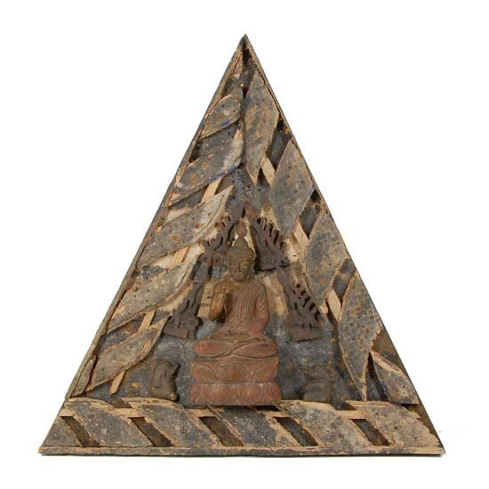 Architectural Antique Teak Temple Roof Gable
