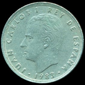 1984 Spain 25p ERROR XF+