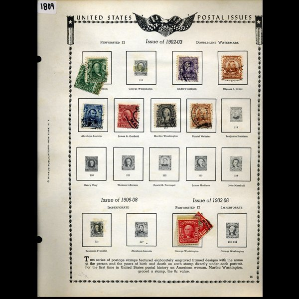 1902 US Stamp Album Page 11pcs