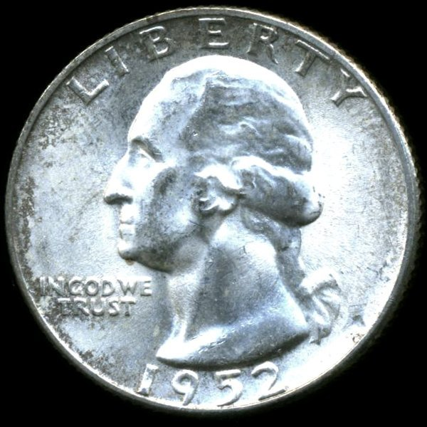 1952S Washington 25c MS64/65