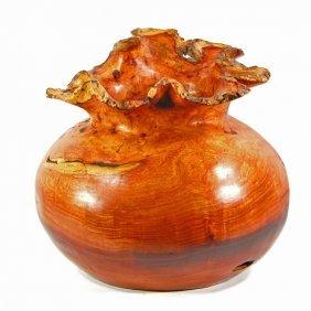 Scarce Large Afzelia Burl Vase