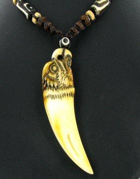 Tibet Bone Agate Bead Choker Necklace