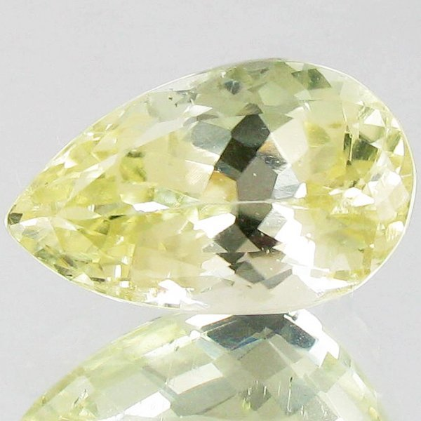 15.55ct Sparking Top Green Kunzite Pear