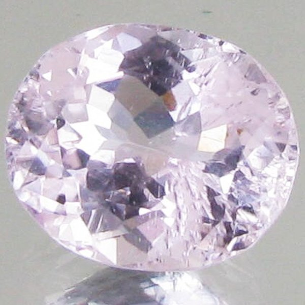 3.9ct Hot Pink Kunzite Oval