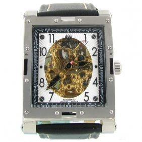 New Ice Time Mens Watch White Gold Plated