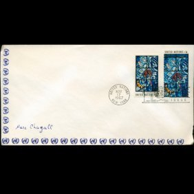 1967 UN First Day Pair Postal Cover