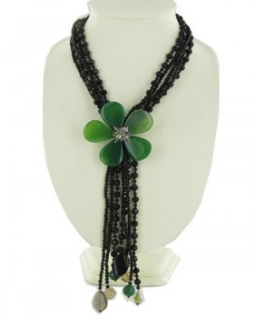 1200ct Agate & Crystal Necklace