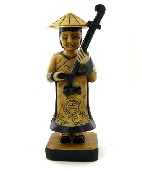 Handcarved Marble Chinese Musician
