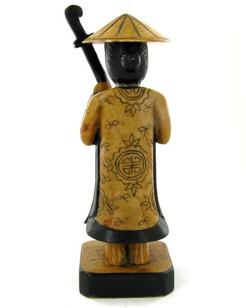 Handcarved Marble Chinese Musician - 2